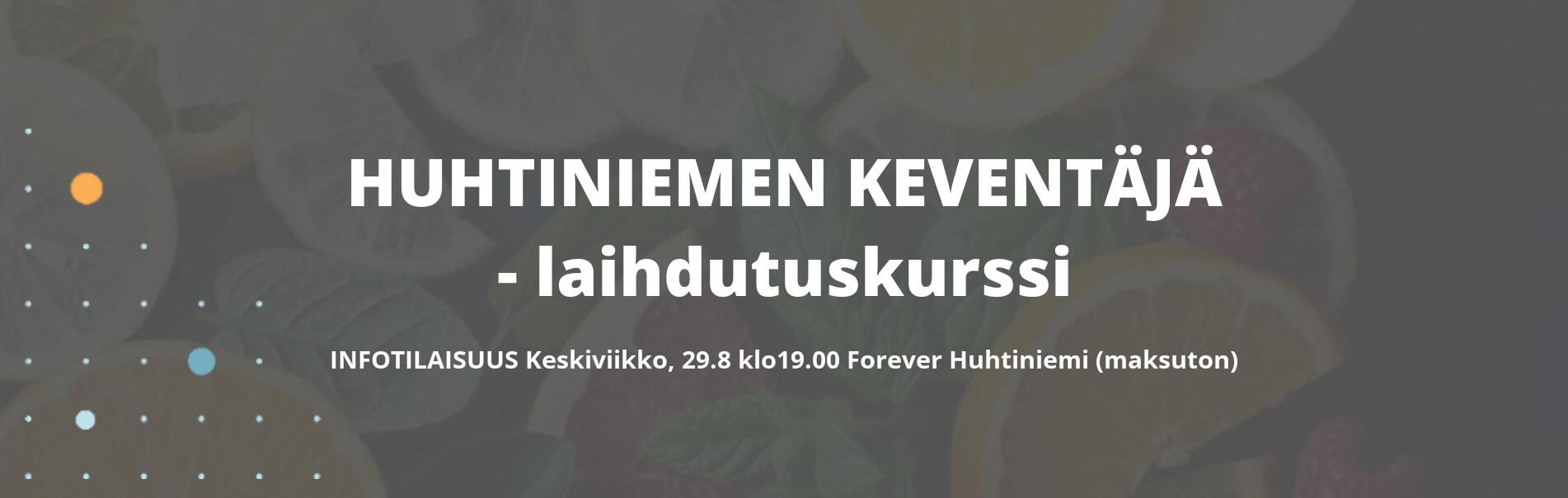 Kevyt LAIHDUTUS KEVNETÄJÄ SYKSY 2018